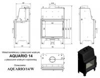 Топка с водяным контуром AQUARIO/A/14/PW/W