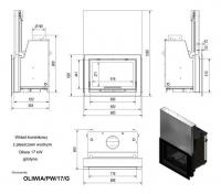 Топка с водяным контуром OLIWIA/PW/17/G/W, гильотина
