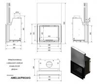 Топка с водяным контуром AMELIA/PW/24/G/W, гильотина