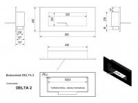 Биокамин DELTA 2 стальной (400*900)