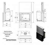 Топка с водяным контуром ANTEK/PW/8/G/W, гильотина