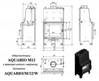 Топка с водяным контуром AQUARIO/M/12/PW/W