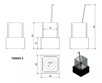 Набор с биокамином TANGO 2, биотопливом(1шт.х1.5л.), зажигалкой