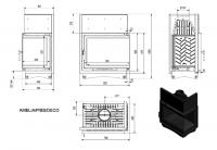 Топка AMELIA/P/BS/DECO, Г-образное стекло справа