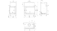 Топка с водяным контуром Amelia/PW/BP/24/BS/W/DECO, Г-образное стекло справа, змеевик