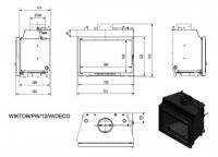 Топка с водяным контуром Wiktor/PW/12/W/DECO