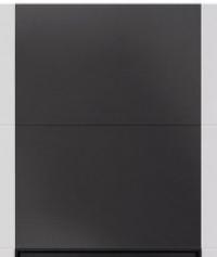Передняя панель Salzburg XL керамика, черная, для версии с двумя дополнительными надстройками