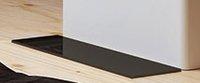 Притопочная панель Salzburg L, стекло черное