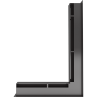 Люфт угловая правая черная 60
