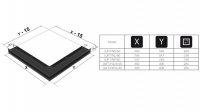 Люфт угловая/6*40 см левая черная