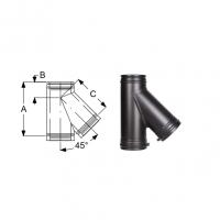 Schiedel Permeter Black Тройник 45°