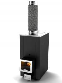Печь в комлекте Куткин «Эконом +» (чёрный кожух конвектор). Для парной до 10 м3
