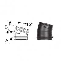 Schiedel Permeter Black Отвод 15°