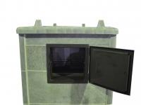 Теплонакопительная печь подового горения «ОНЕГО 45 Т15» для русской бани