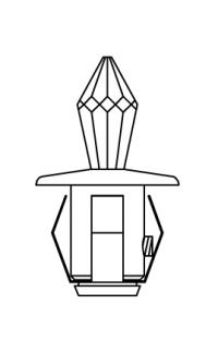 Хрустальная насадка Cariitti CR-12 хром длина кристалла 12 мм