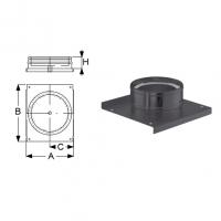 Schiedel Permeter Black Основание с отводом конденсата
