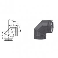 Schiedel Permeter Black Отвод 90°