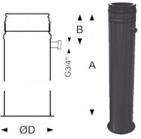 Schiedel Permeter Black Напольный элемент с отводом конденсата (1000 мм)