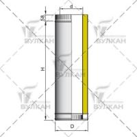 Труба двустенная DTH 250мм 115/215 с изоляцией 50мм