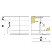 Задвижка поворотная с механизмом фиксации дымохода Вулкан V50R 130/230