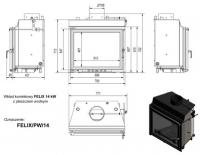 Топка с водяным контуром FELIX/PW/14/W