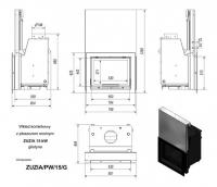 Топка с водяным контуром ZUZIA/PW/15/G/W, гильотина