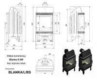 Топка BLANKA/L/BS, Г-образное стекло слева