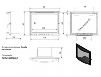 Дверца в сборе для топок Ameila/Felix (панорама)
