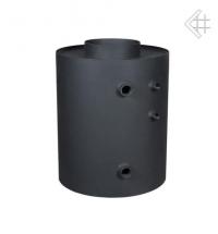 Теплообменник водный для дымохода с вертикальными трубами