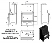 Топка с водяным контуром AQUARIO/O/16/PW/W
