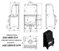 Топка с водяным контуром AQUARIO/Z/14/PW/W