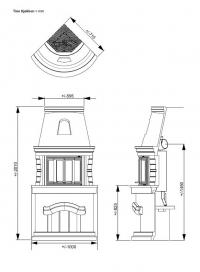Печь-камин TINE KITCHEN