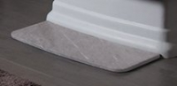 Притопочная панель (Brage), мрамор Ruivina (пескостр.)