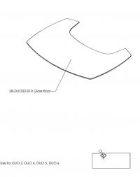 Притопочная панель DUO 2,4,5,6, стекло, прозрачное