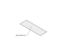 Притопочная панель(Panama), 50см, стекло прозрачное