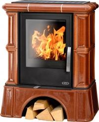 Керамическая печь BAVARIA KI, с кафельным цоколем, с теплообменником, с допуском воздуха