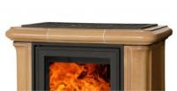 Керамическая печь IBERIA KI, с кафельным цоколем, с теплообменником, с допуском воздуха