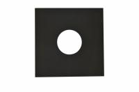 Фланец чёрный настенный Ш*В 550*800