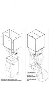 Котел Купер ОК-30 в комплекте с пеллетной горелкой