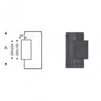 Schiedel Permeter Black Тройник прочистки для твердого топлива
