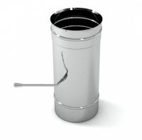 Шибер для дымохода Вулкан VR 130 Aisi 321 L250mm