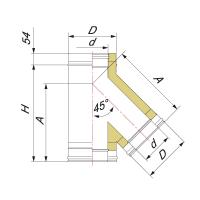 Тройник 45° для дымохода Вулкан VR